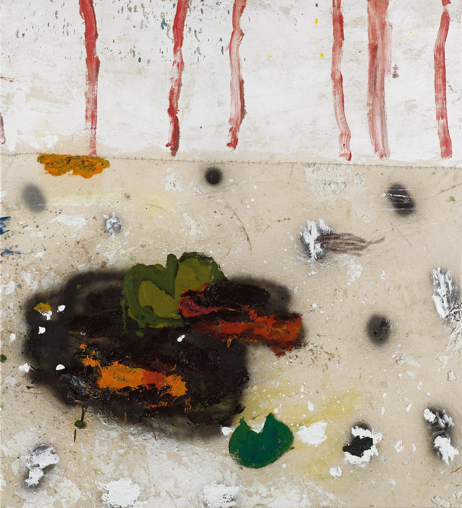 Amit Cabessa, 2019, Mixed media on canvas 110 x 100 cm