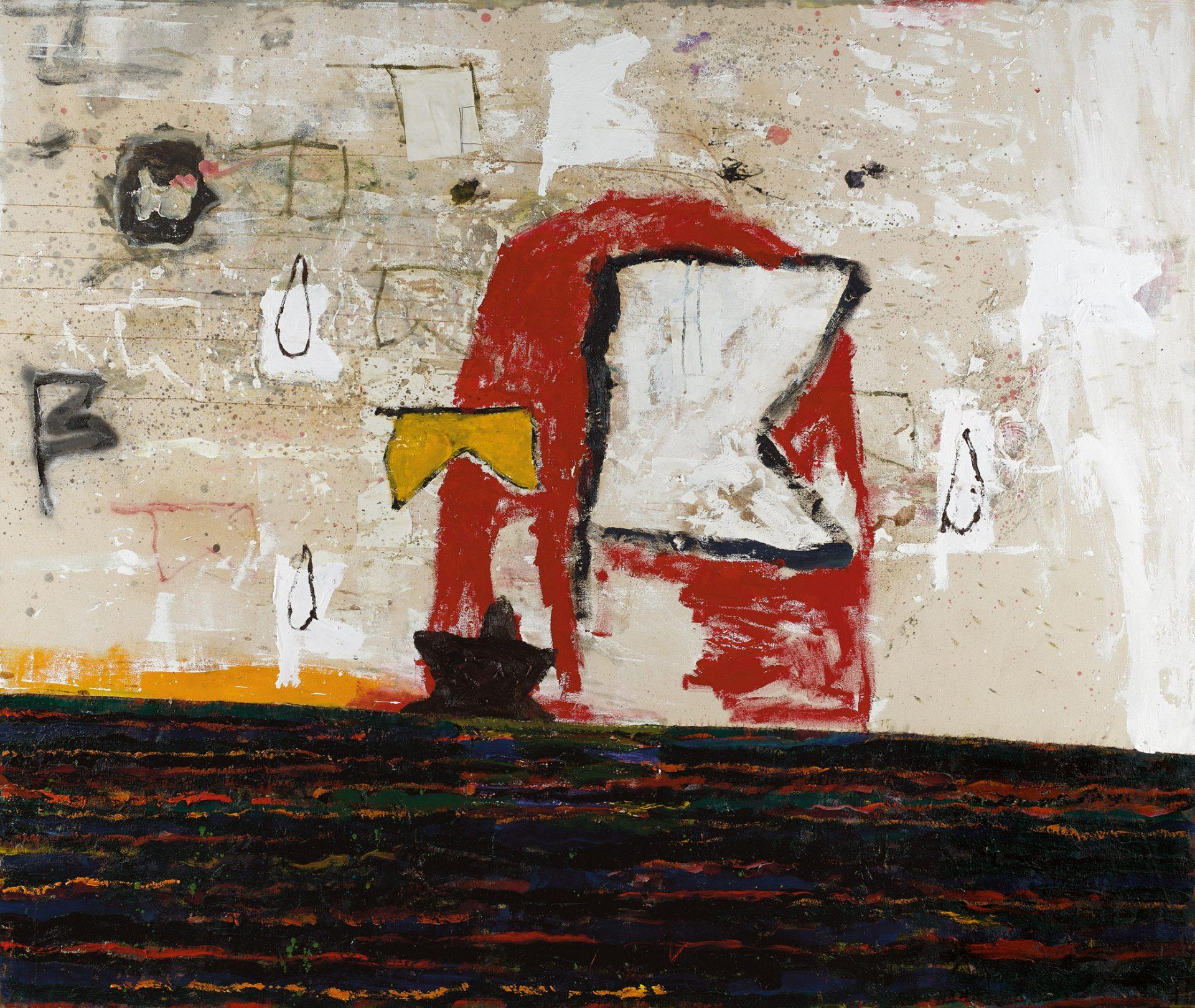 Amit Cabessa, 2019, Mixed media on canvas 160 x 190