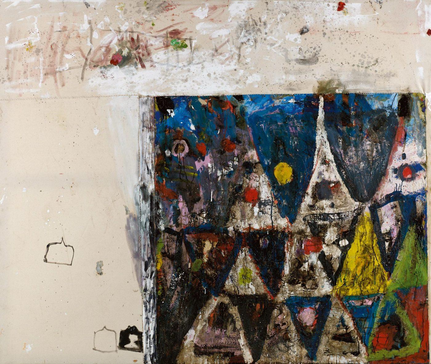Amit Cabessa, 2018, mixed media on canvas 160 X 190 cm