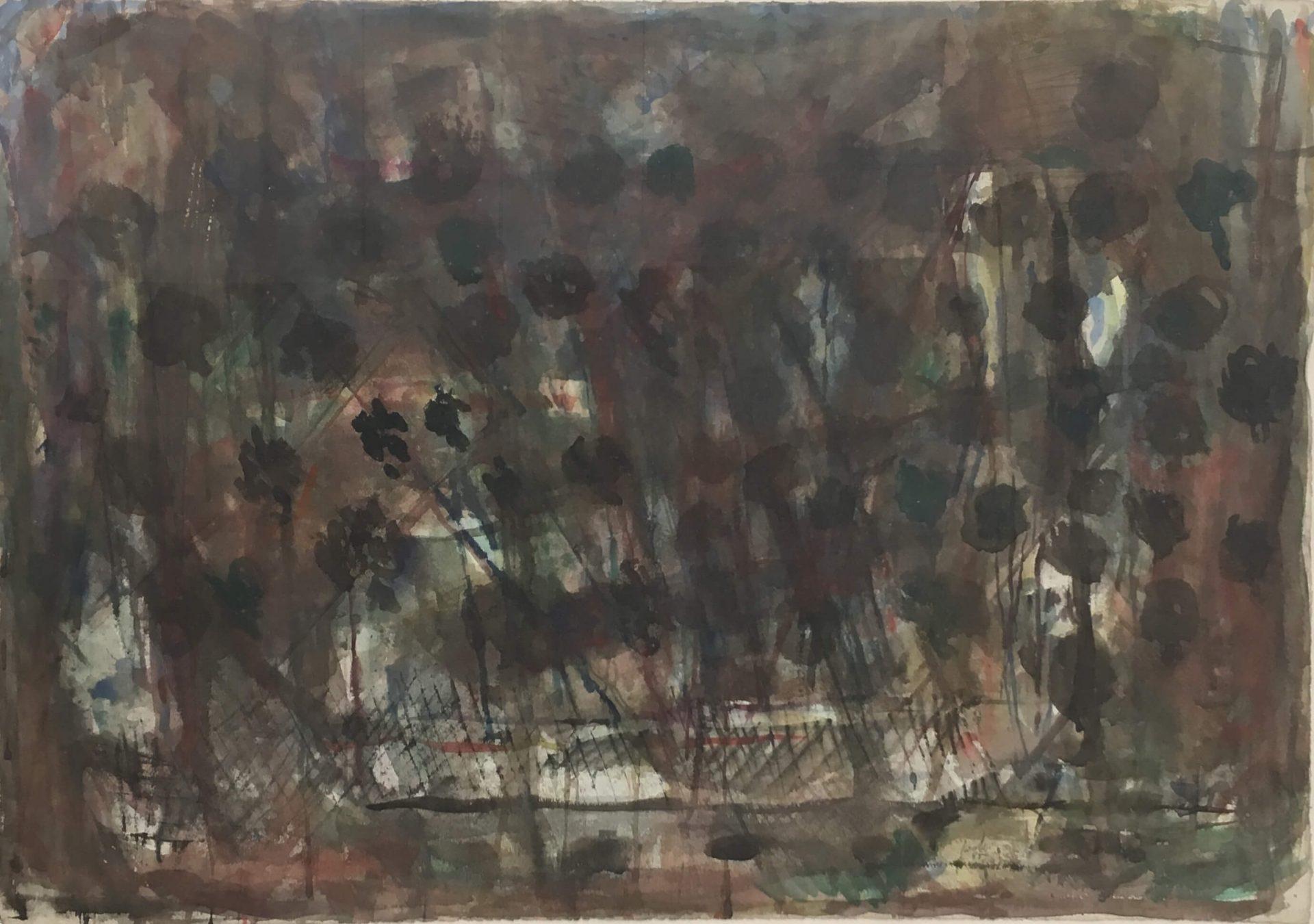 1466_Yehezkel Streichman, 1985, Mixed media, 76x113 cm-2760x1940