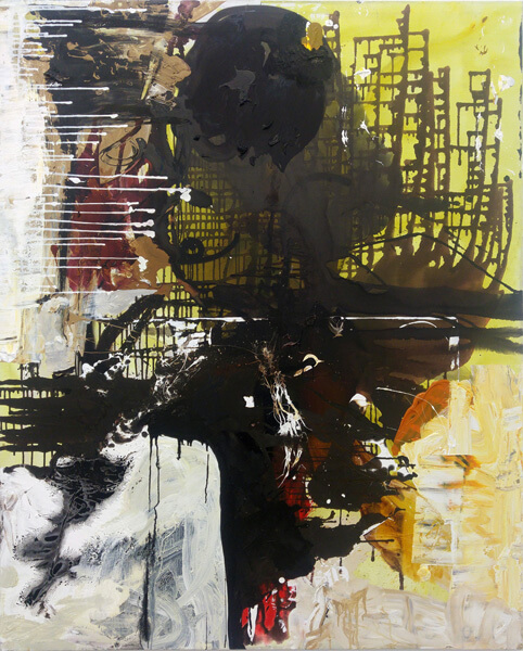 1442_Tsibi Geva, The Angel of History, 2017, Acrylic on canvas, 180x145