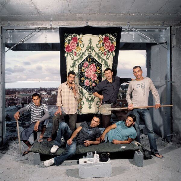 1372_10 Ron Amir, Nashat, Nasser, Amin and Friends, 2010, Inkjet print, 120x120 cm-600x600