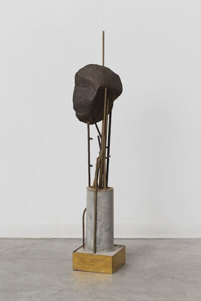 1227_Drora Dominey, Reverie, 2015, Bronze, iron and concrete, 86x15x15 cm-400x600