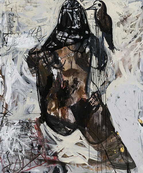 1281_Tsibi Geva, Untitled, 2013, Acrylic and oil on canvas, 200x150 cm-498x600