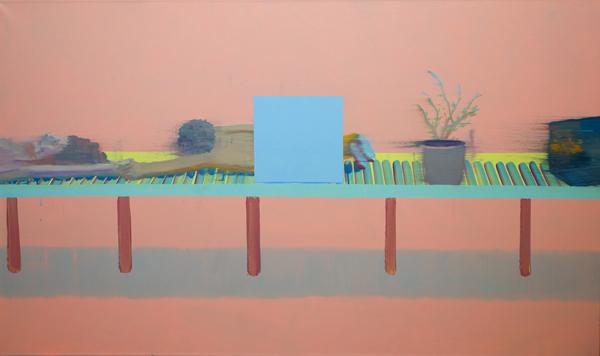 Alon Kedem, Pink Scanning, 2013, oil on canvas, 160x100 cm-600x356