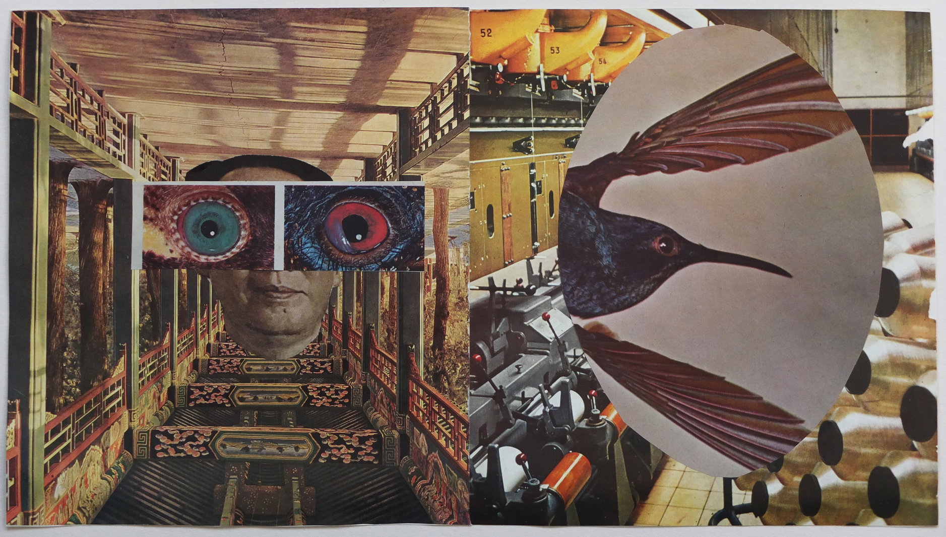 Gilad Kahana, Every Thread is Silent, 2015, Collage, 23.5x41