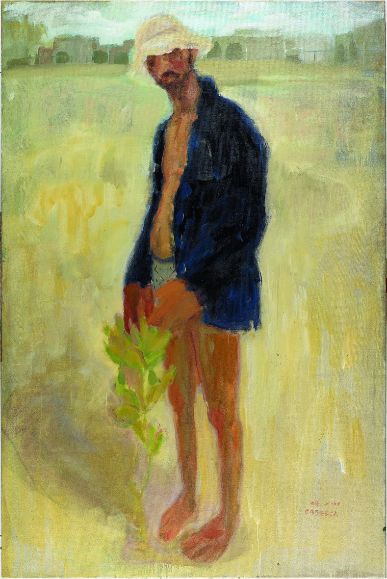 Amit Cabessa, Farmer, 2009, Oil on Canvas, 180x120 cm