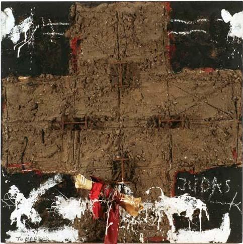 Igael Tumarkin Mixed media on wood 122 x 122 cm 14,000$