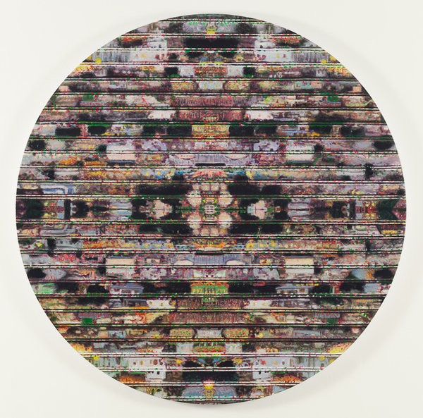 1135_02-Shay Kun, Untitled, 2015, Oil on canvas, 121 cm diameter-600x593