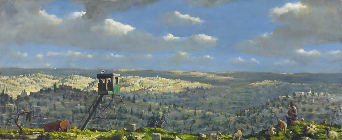 Ilan Baruch, Landscape, Oil on canvas 60 x 150 cm, 10,000$