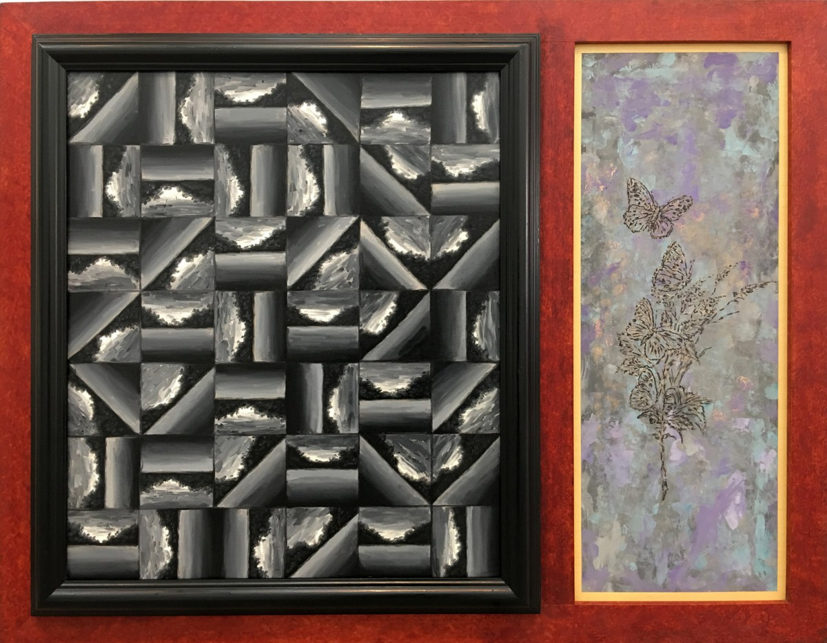 Meir Pichhadze, Untitled, 1993, Oil on wood, 91x117 cm