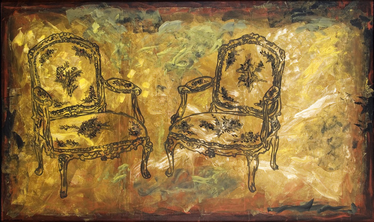 Meir Pichhadze, Untitled, 1990, Oil on canvas, 160x260 cm