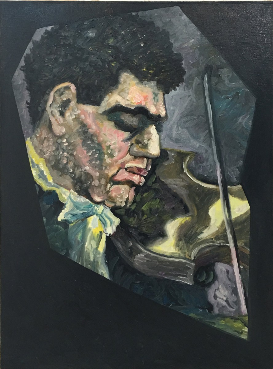 Meir Pichhadze, Untitled, 1996, Oil on canvas, 70x51 cm
