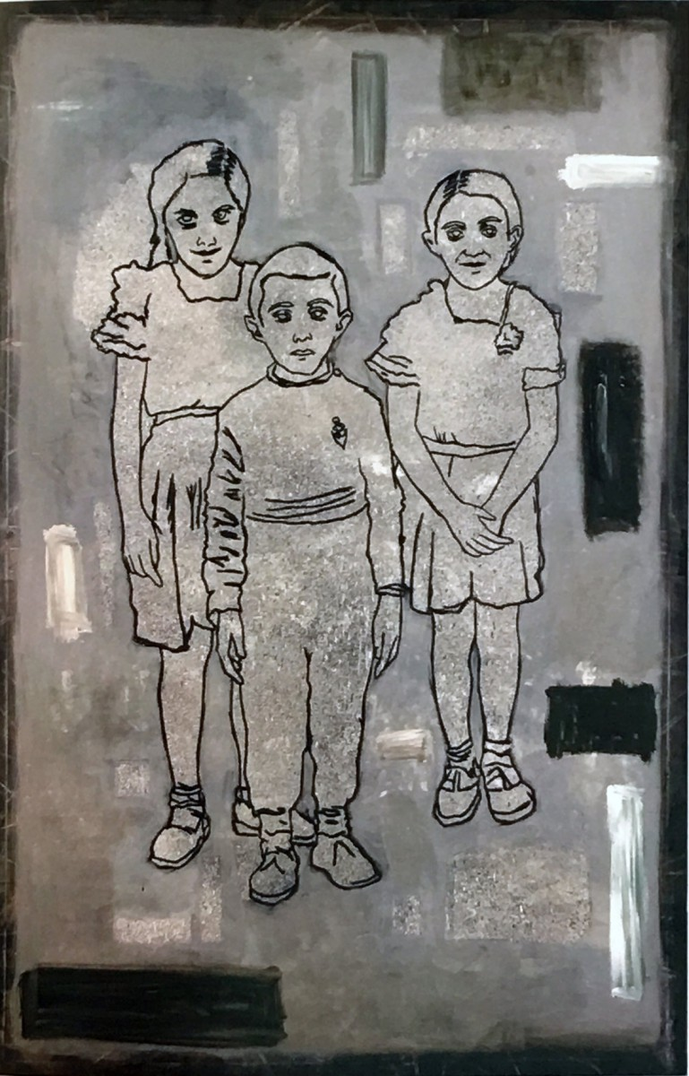 Meir Pichhadze, Untitled, 1985, Oil on canvas, 225x150 cm