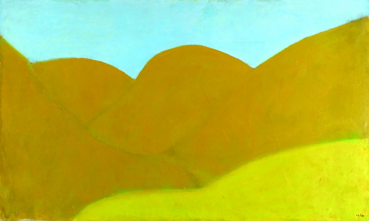 Ori Reisman, Mountain-Woman ( Hills in teh Negev) , 1960's, Oil on canvas 89 x 146 cm