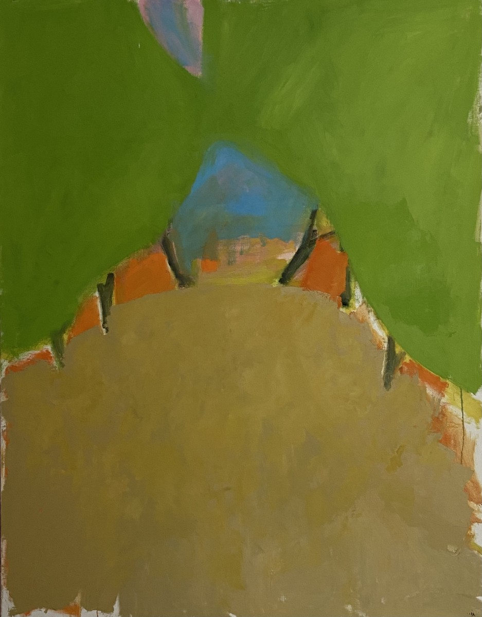 Ori Reisman, Carob Tree Boulevard early 1980's, Oil on canvas 1145 x 147 cm