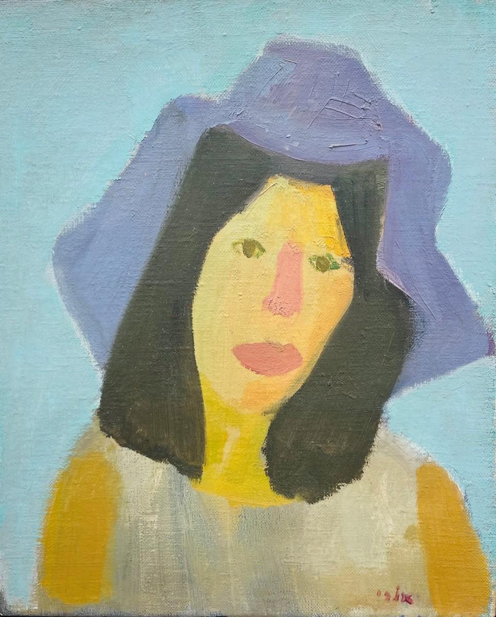 Ori Reisman, Portrait of Ruth Shoshani, 1970's, Oil on canvas 61.5 x 50