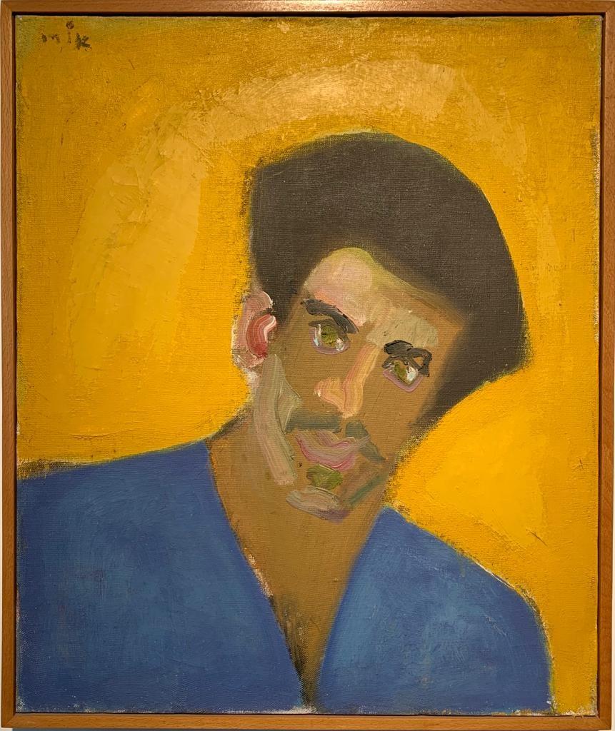 Ori Reisman, Portrait of Arnon Koslow, 1970's, Oil on canvas 55 x 46 cm