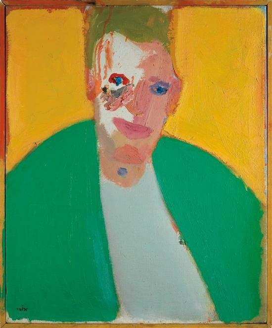 Ori Reisman, Portrait of Man, 1980's, Oil on canvas 61 x 50 cm