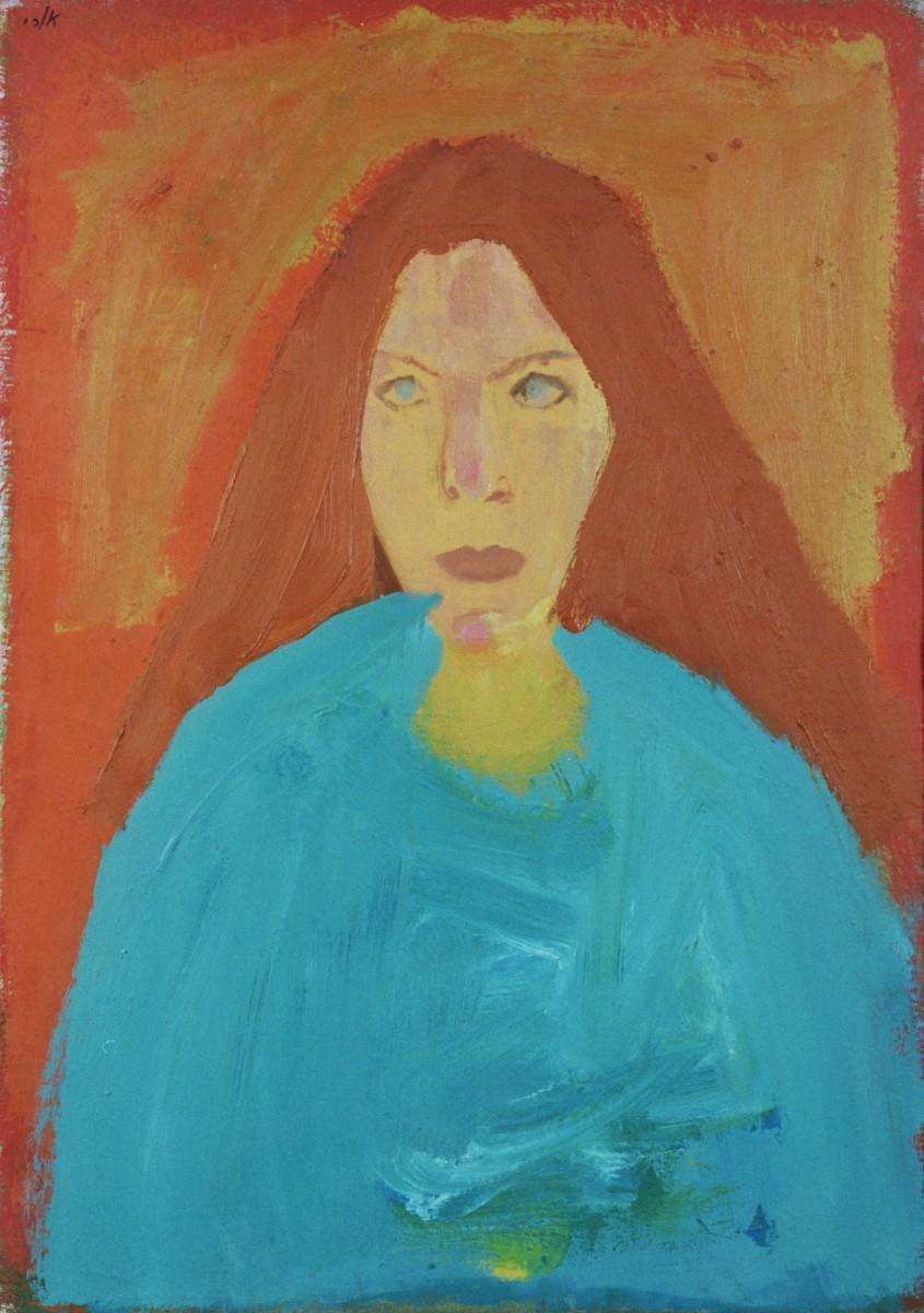 Ori Reisman, Portrait of Nira Zafrir, 1970's, Oil on canvas 65 x 46 cm