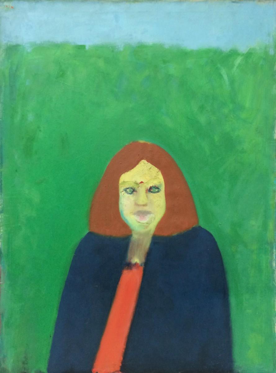 Ori Reisman, Portrait of Lydia, 1970's, Oil on canvas 130 x 97 cm