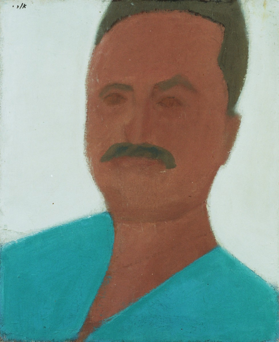 Ori Reisman, Self-Portrait, late 1970's, Oil on canvas, 50 x 40 cm