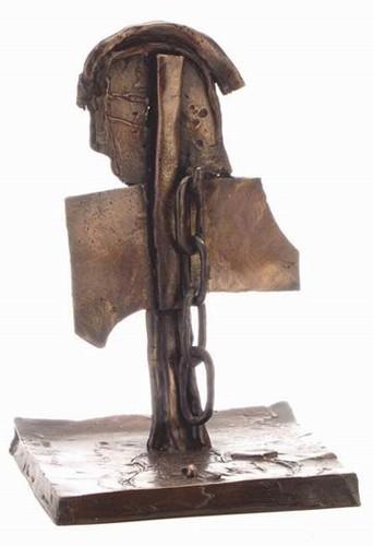 Lea Nikel, Figure, Bronze , H - 29 cm, 1966,