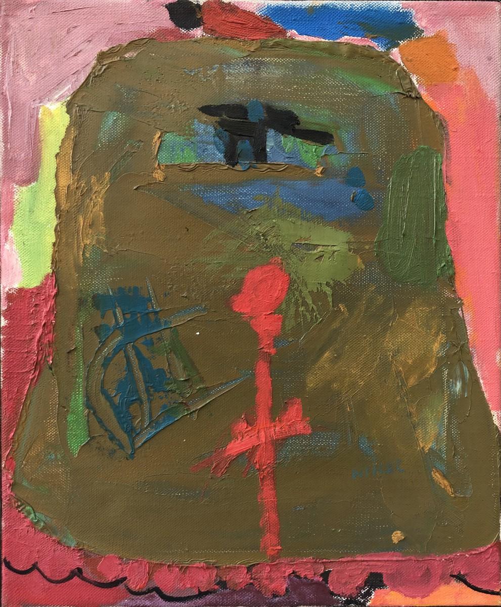 Lea Nikel Oil on canvas 46 x 38 cm, 1970