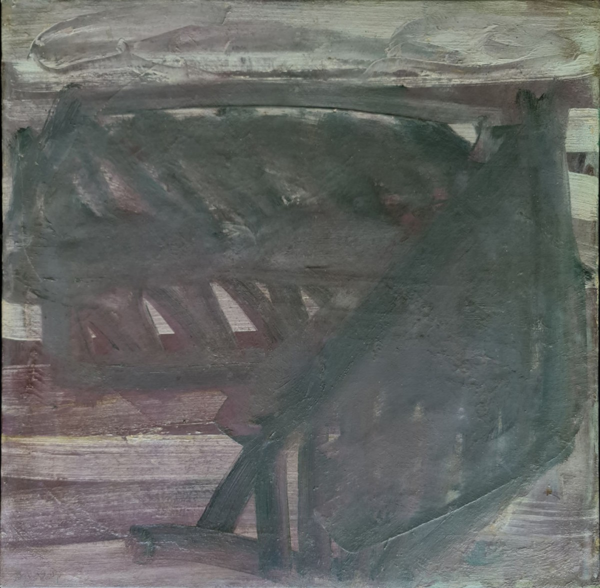 Moshe Kupferman, Untitled, 1970, Oil on canvas 65 X 65 cm