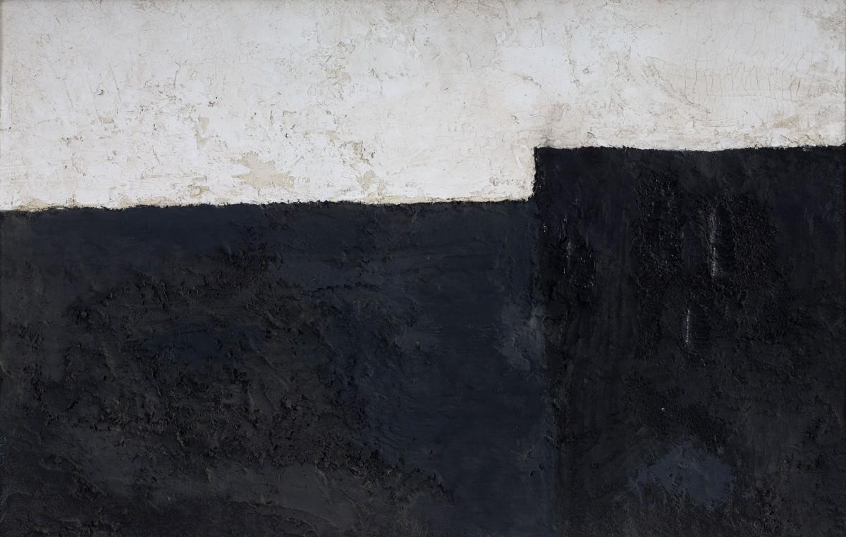 Michael Gross, Untitled, the 70's, Oil, concrete, grid, 52 x 81 cm