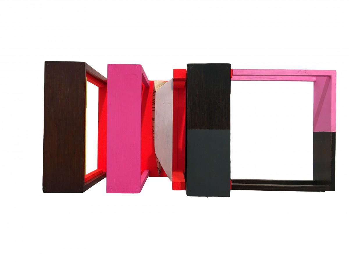Nahum Tevet, Untitled, 2014, industrial paint on wood, 16.5x38.5x15