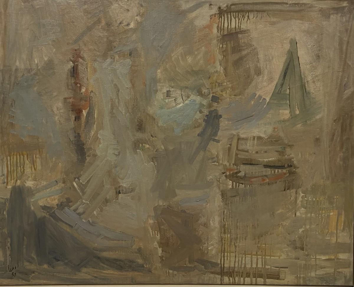 Yehezkel Streichman, 1959, Oil on canvas, 82x98 cm