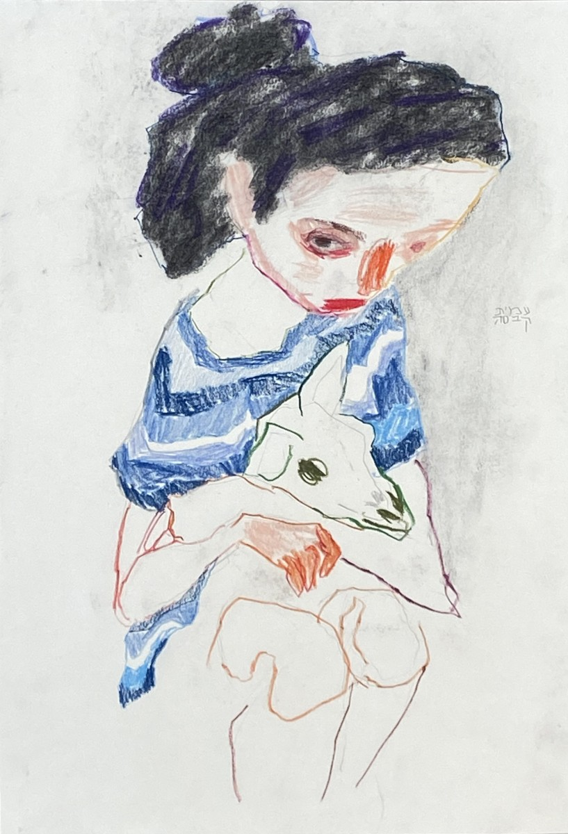 Amit Cabessa, 2020, Mixed media on paper, 42x29 cm