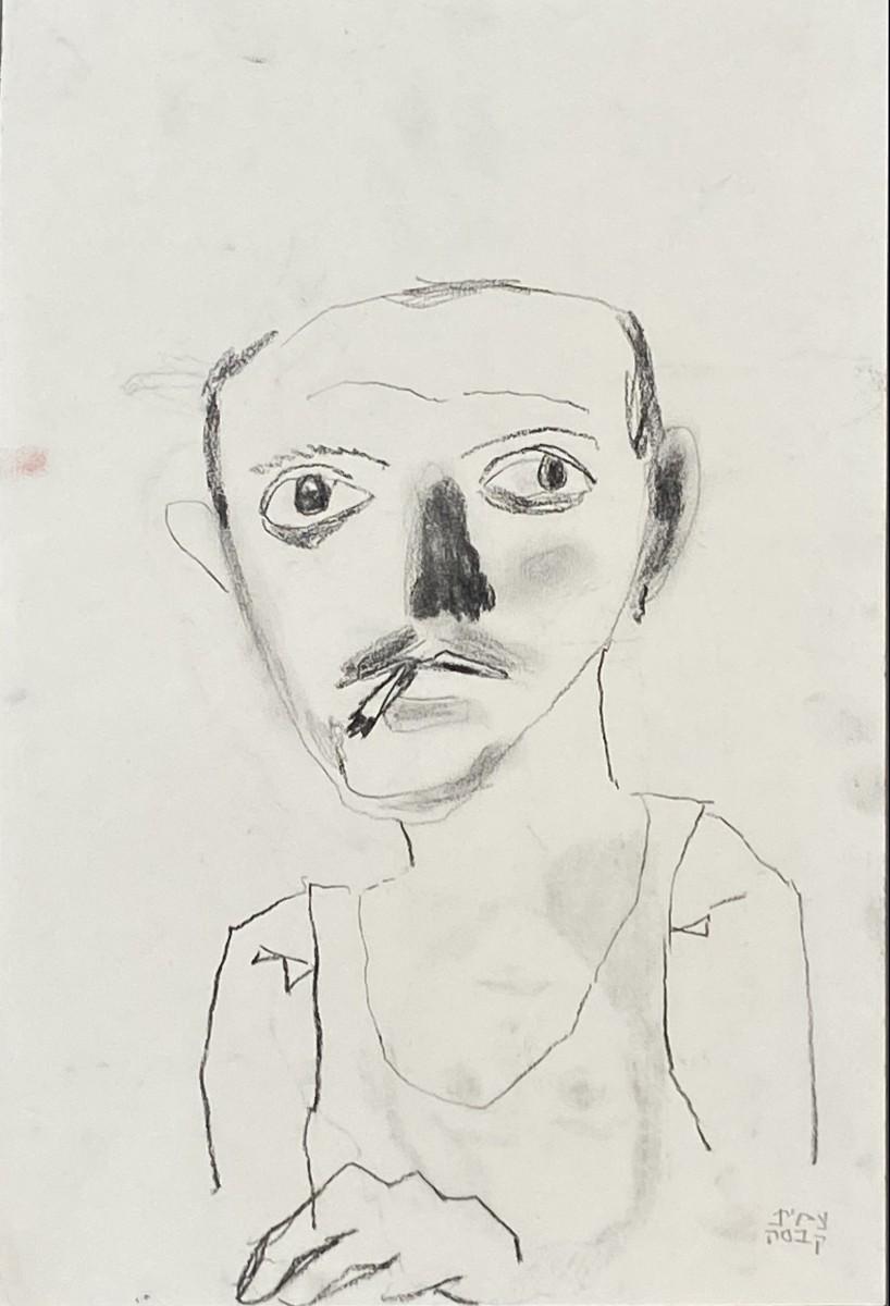 Amit Cabessa, 2020, Charcoal on paper, 42x28 cm
