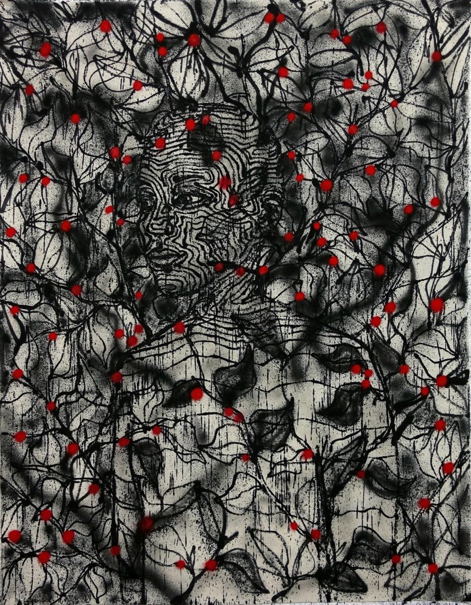 Klone, I remember, Spray paint on canvas, 134x105cm, 2020